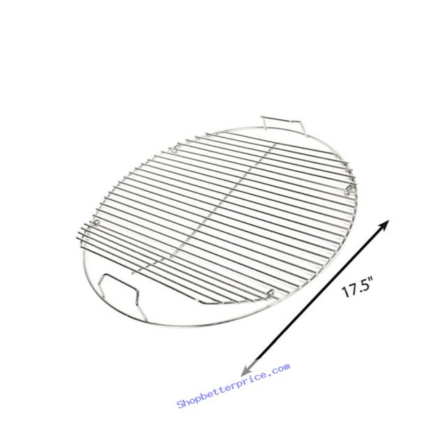 Grill Care 17433 Stainless Steel Grid Compatible with Weber 18.5