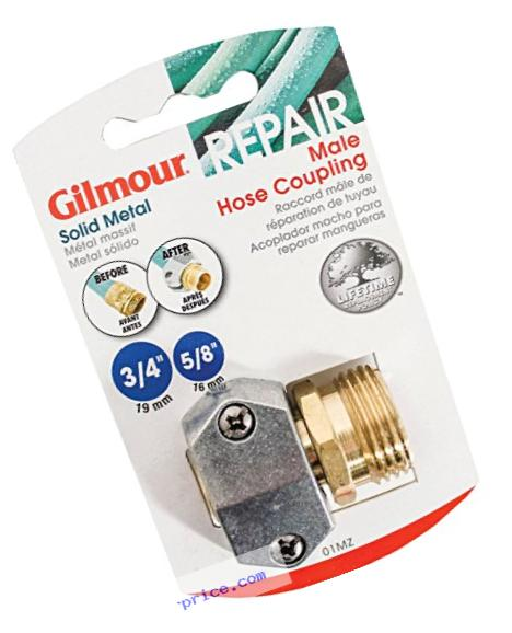 Gilmour Heavy Duty Zinc and Brass Male Clamp Coupling